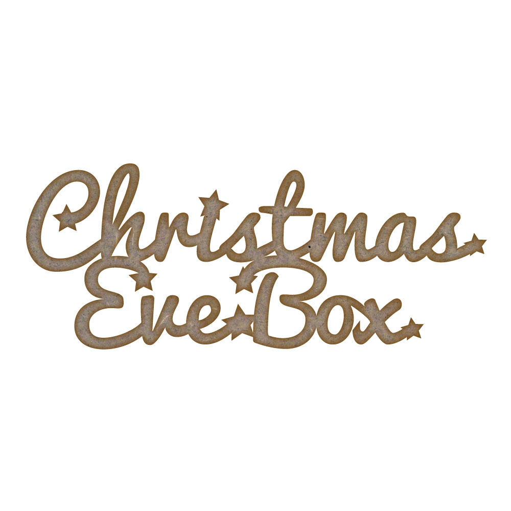 Christmas Eve Box MDF Laser Cut Craft Blanks in Various Sizes | eBay