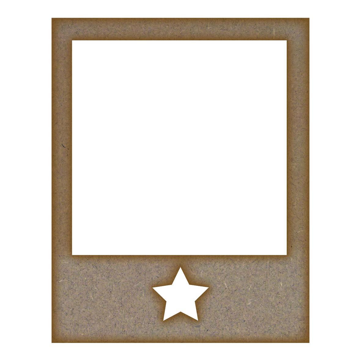 retro photo frame star mdf laser cut craft blanks in various