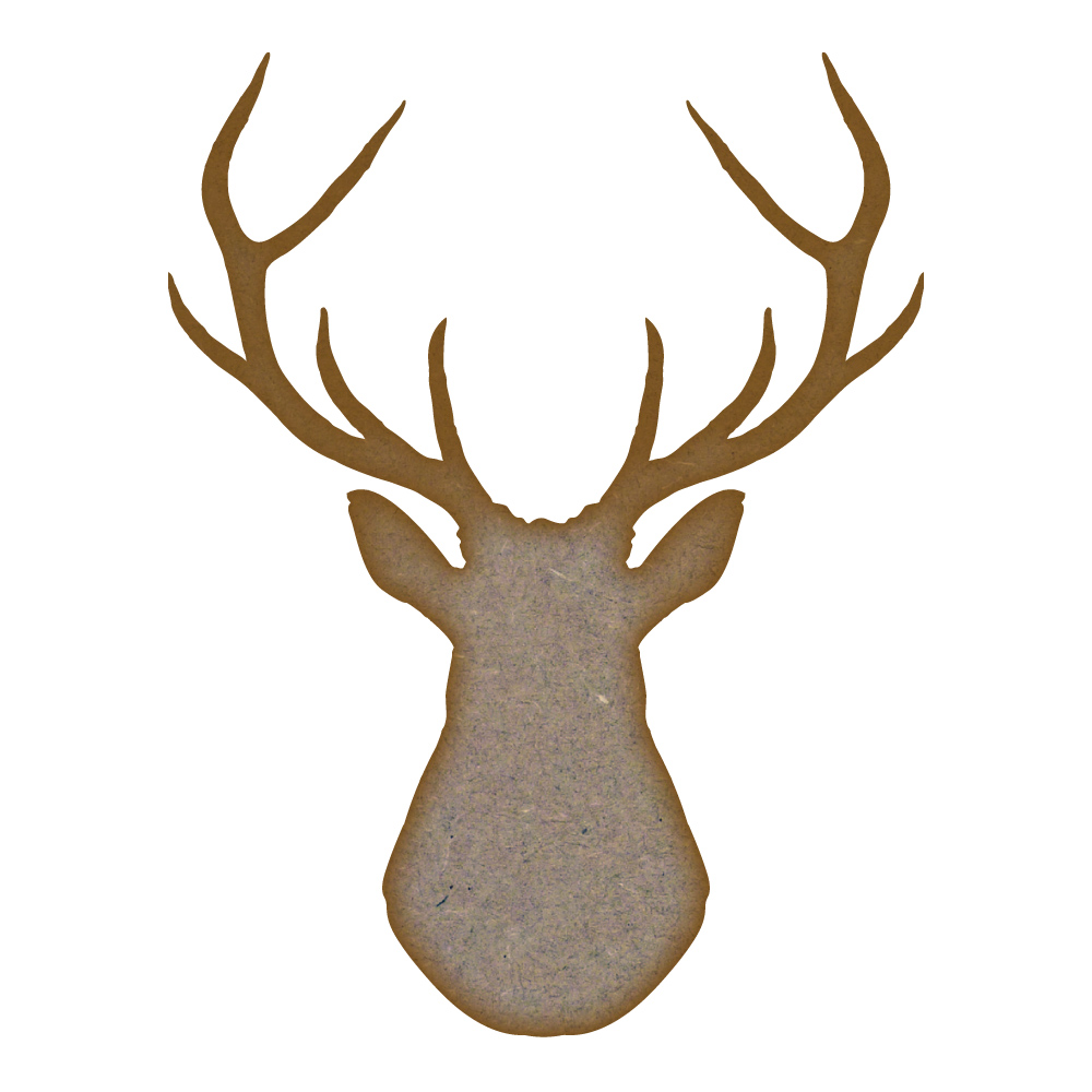 Stag Head - MDF Laser Cut Craft Blanks in Various Sizes | eBay
